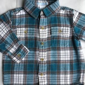 Janie and Jack shirt size 6-12 months flannel boys